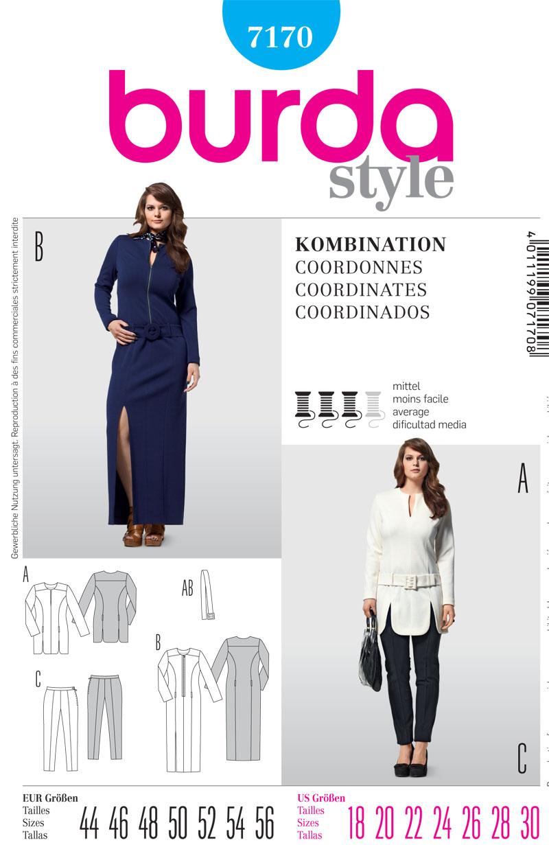Burda Misses Top, Dress and trousers 7170