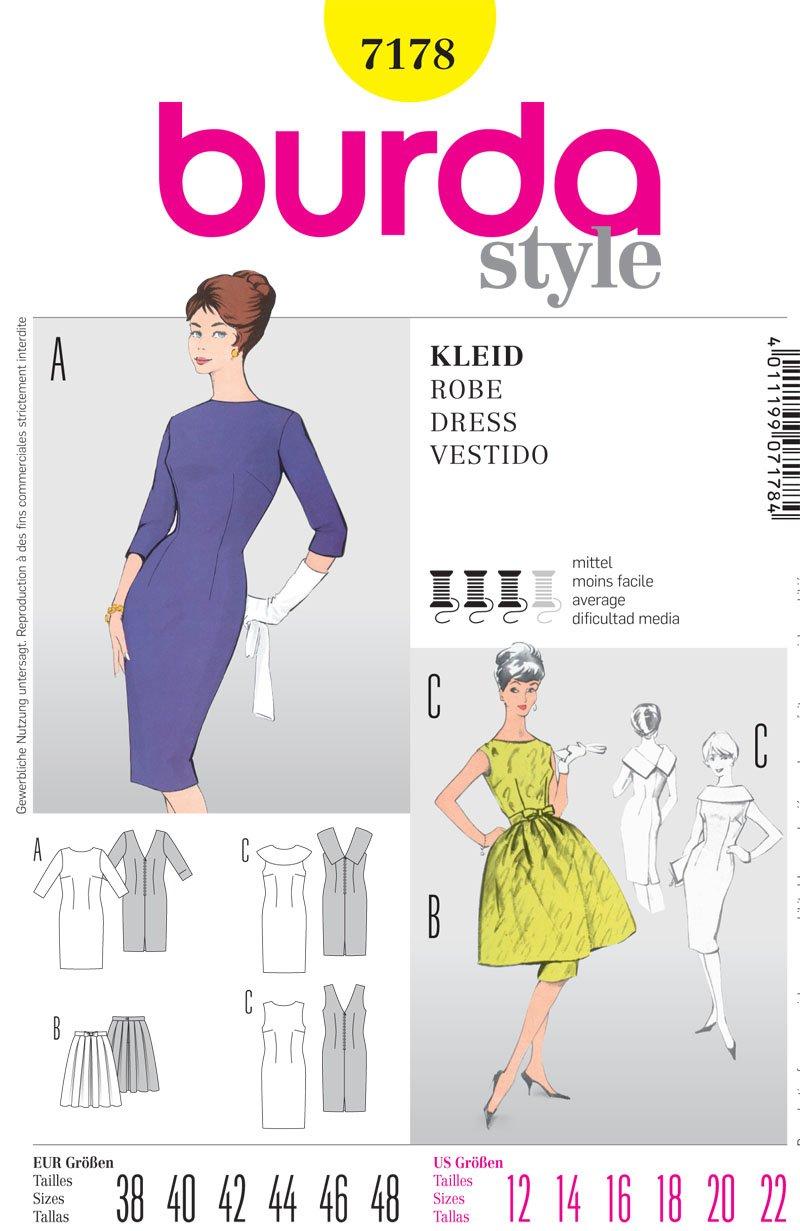 Burda Misses Dress 7178