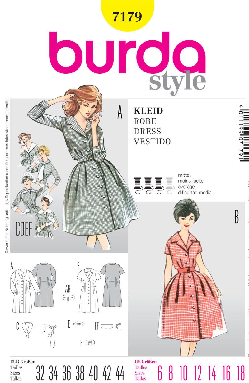 Burda Misses Dress 7179