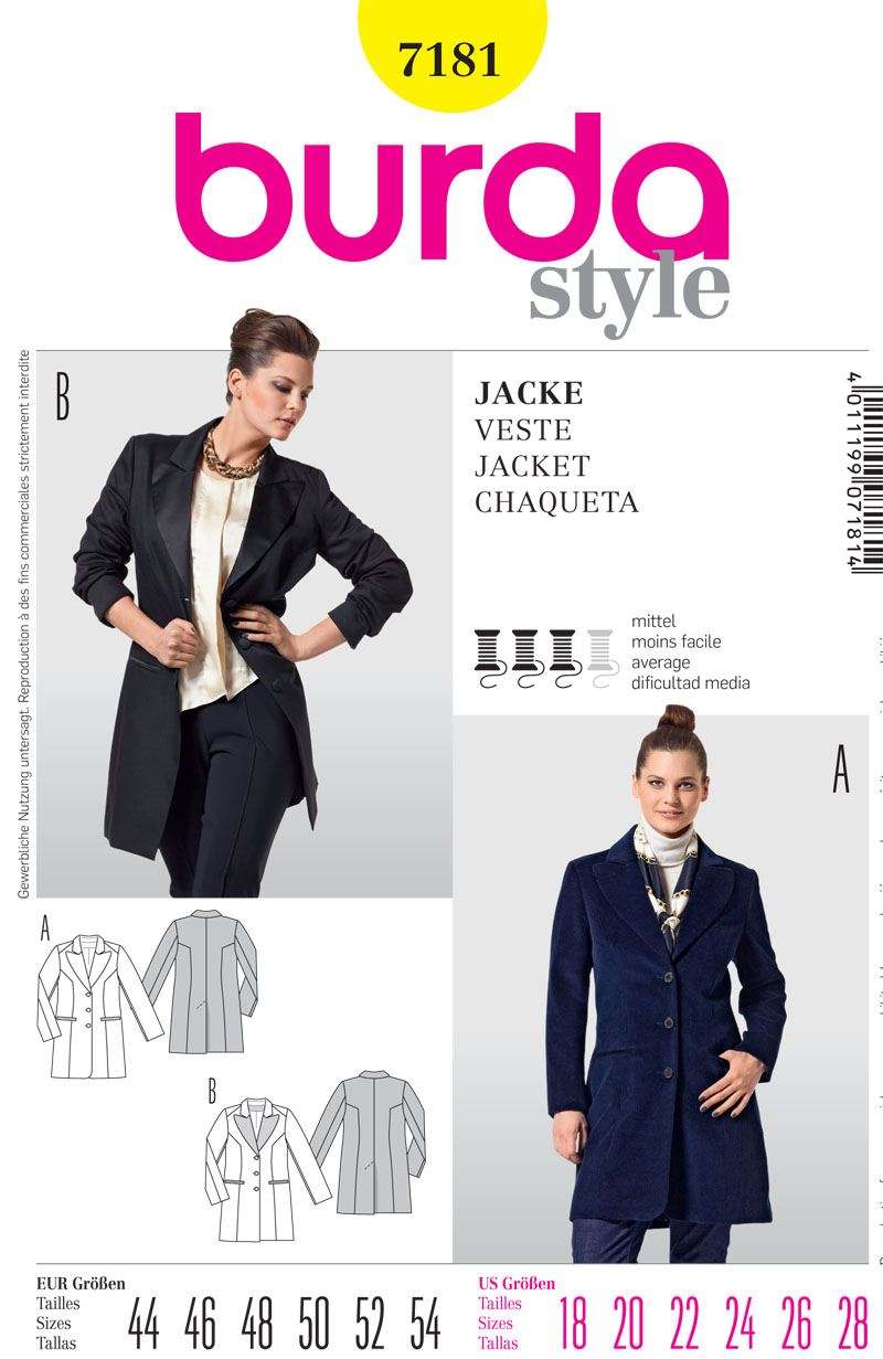 Burda Misses Jacket 7181