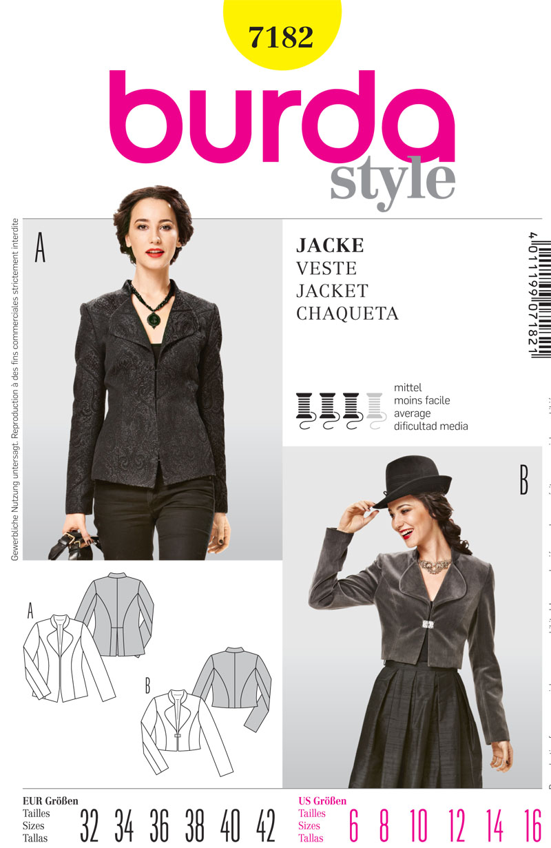 Burda Misses Jacket 7182