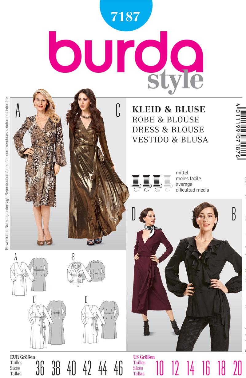 Burda Misses top and dress 7187