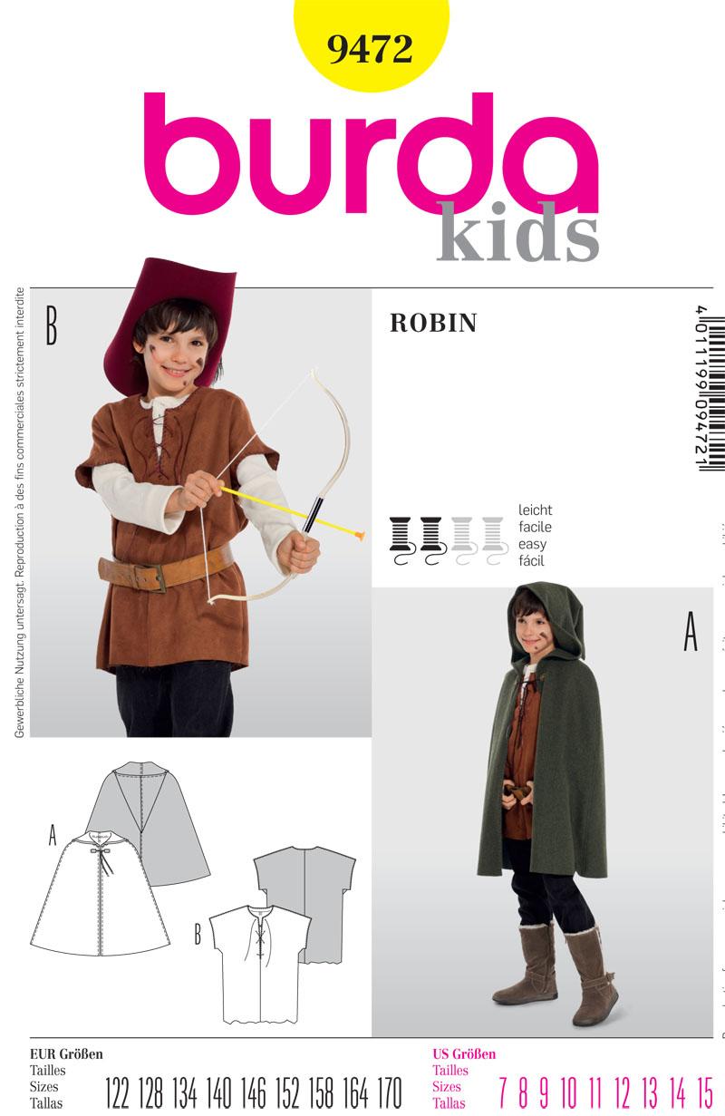 Burda Children's Costume 9472