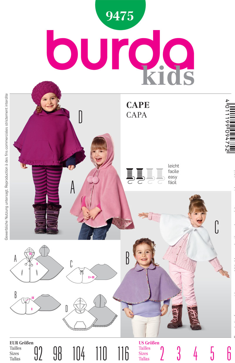 Burda Children's Cape 9475
