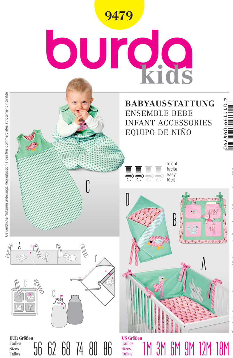 Burda Infant Accessories 9479