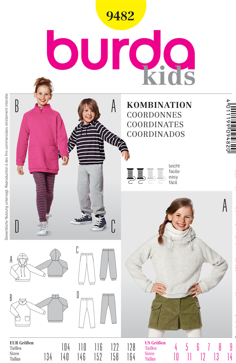 Burda Childrens Activewear 9482