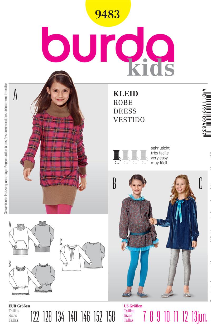 Burda Children's Dress 9483