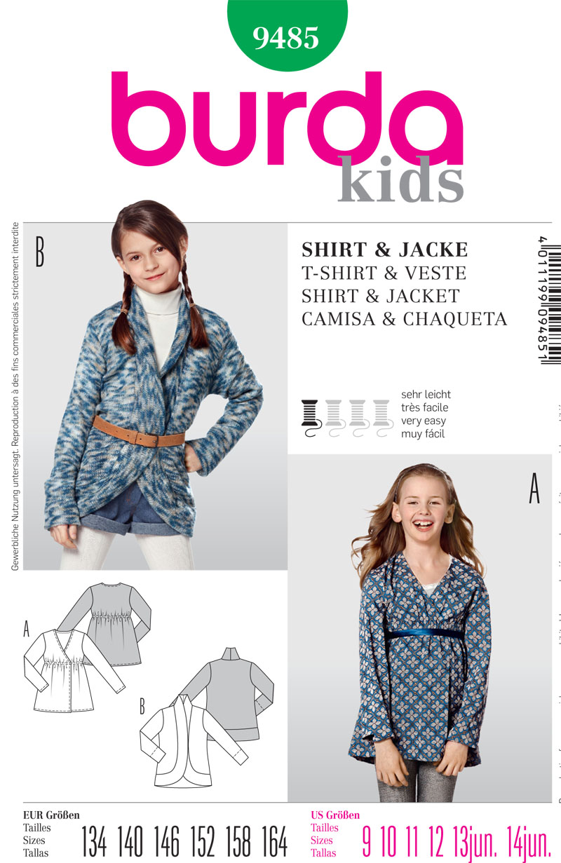 Burda Children's Shirt and Jacket 9485