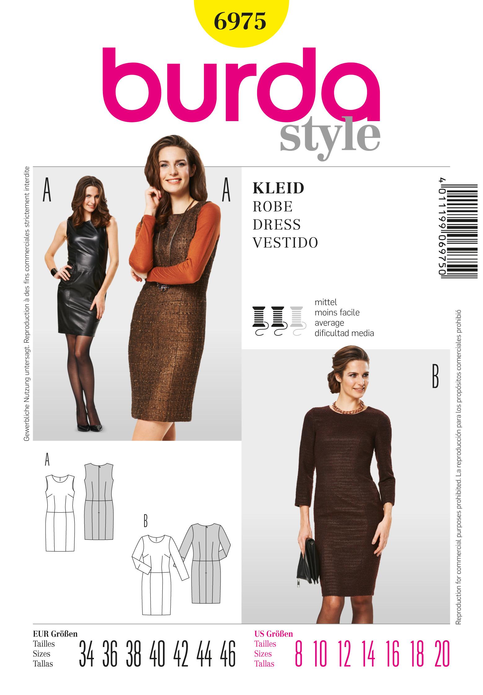 Burda Sheath Dress 6975