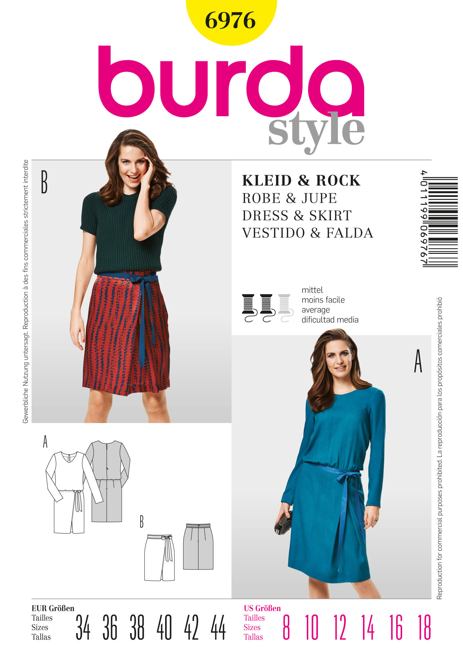 Burda Dress and Skirt 6976