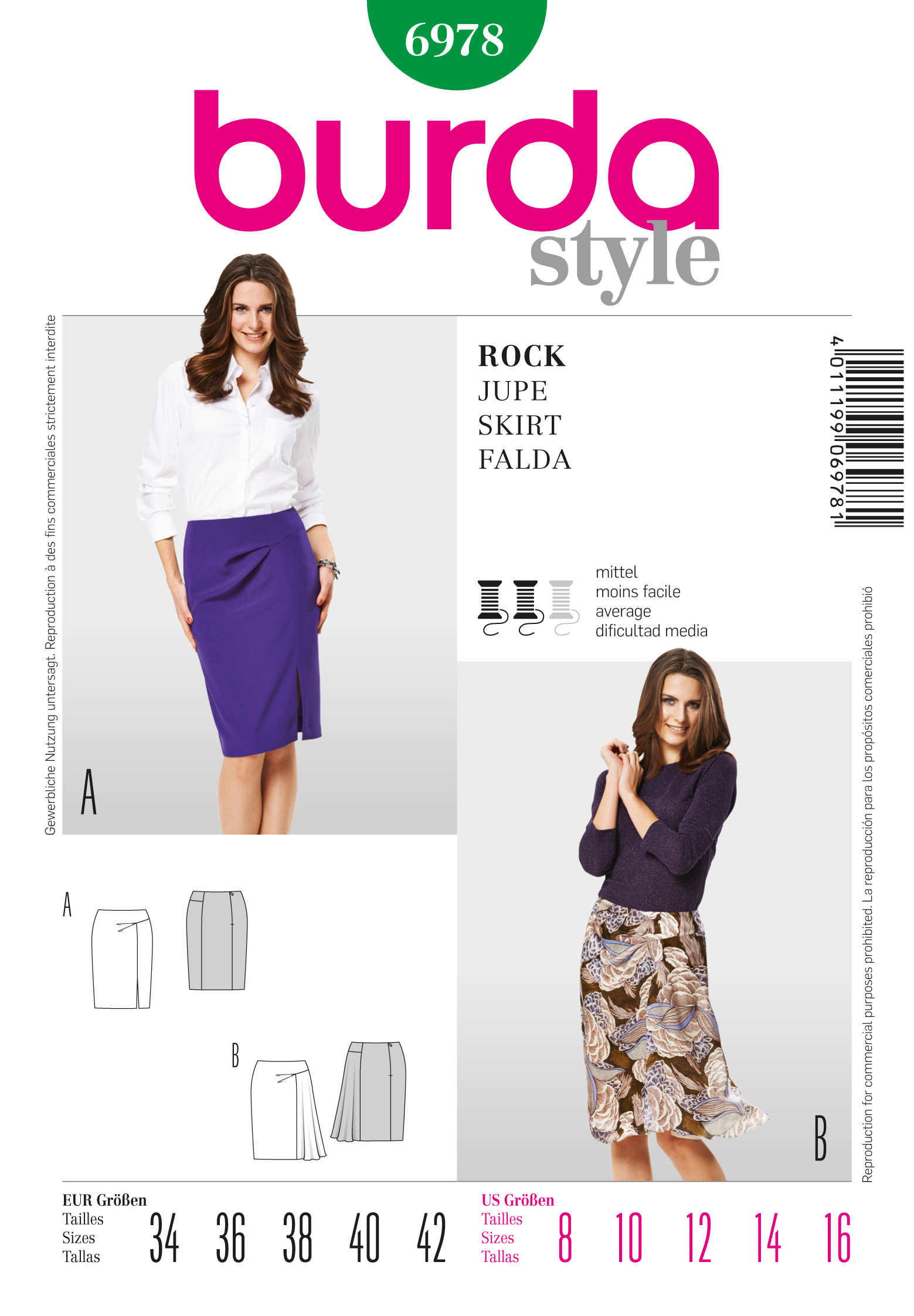 Burda Skirt 6978
