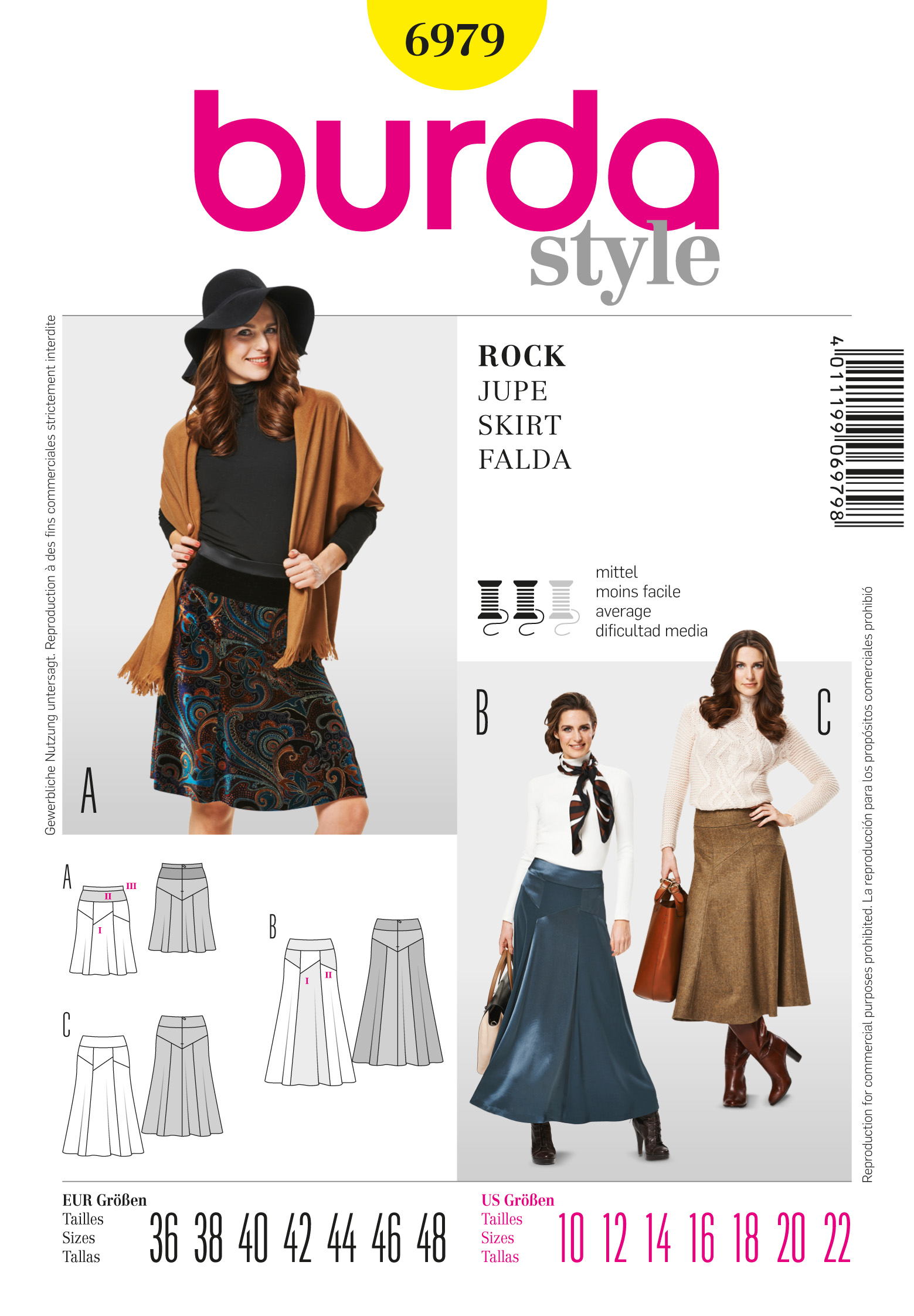 Burda Gored Skirt 6979