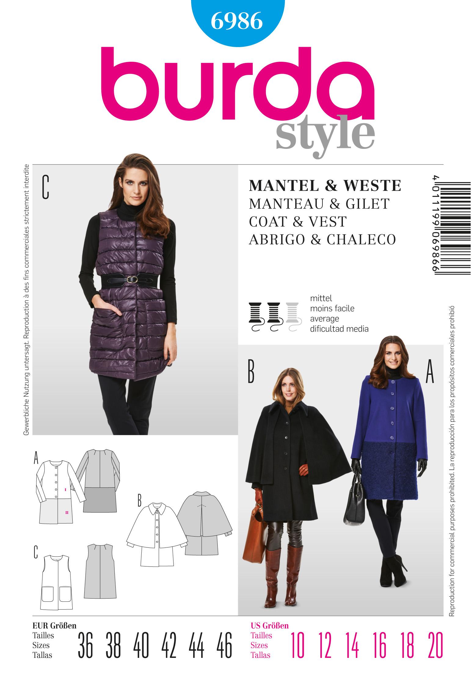 Burda Coat / Vest 6986