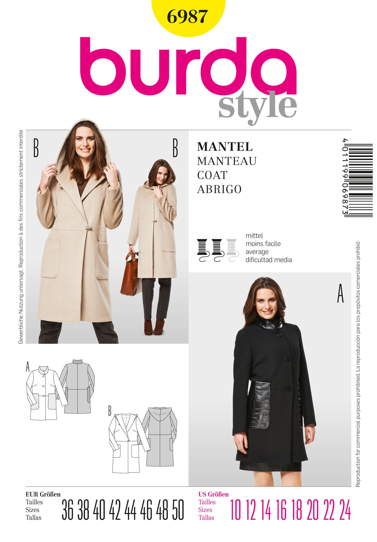 Burda Coat 6987