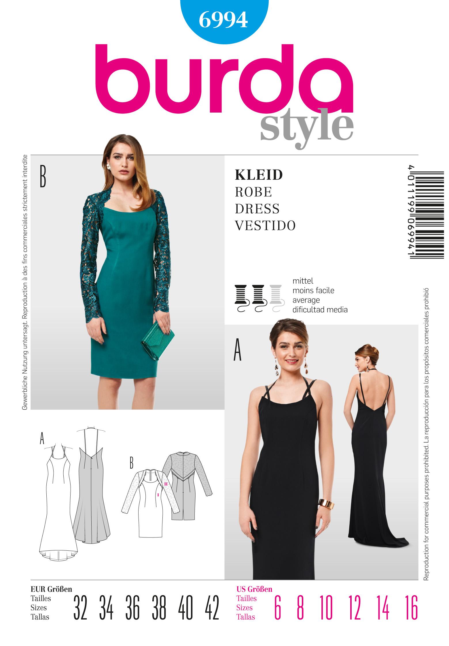 Burda Cocktail Dress 6994