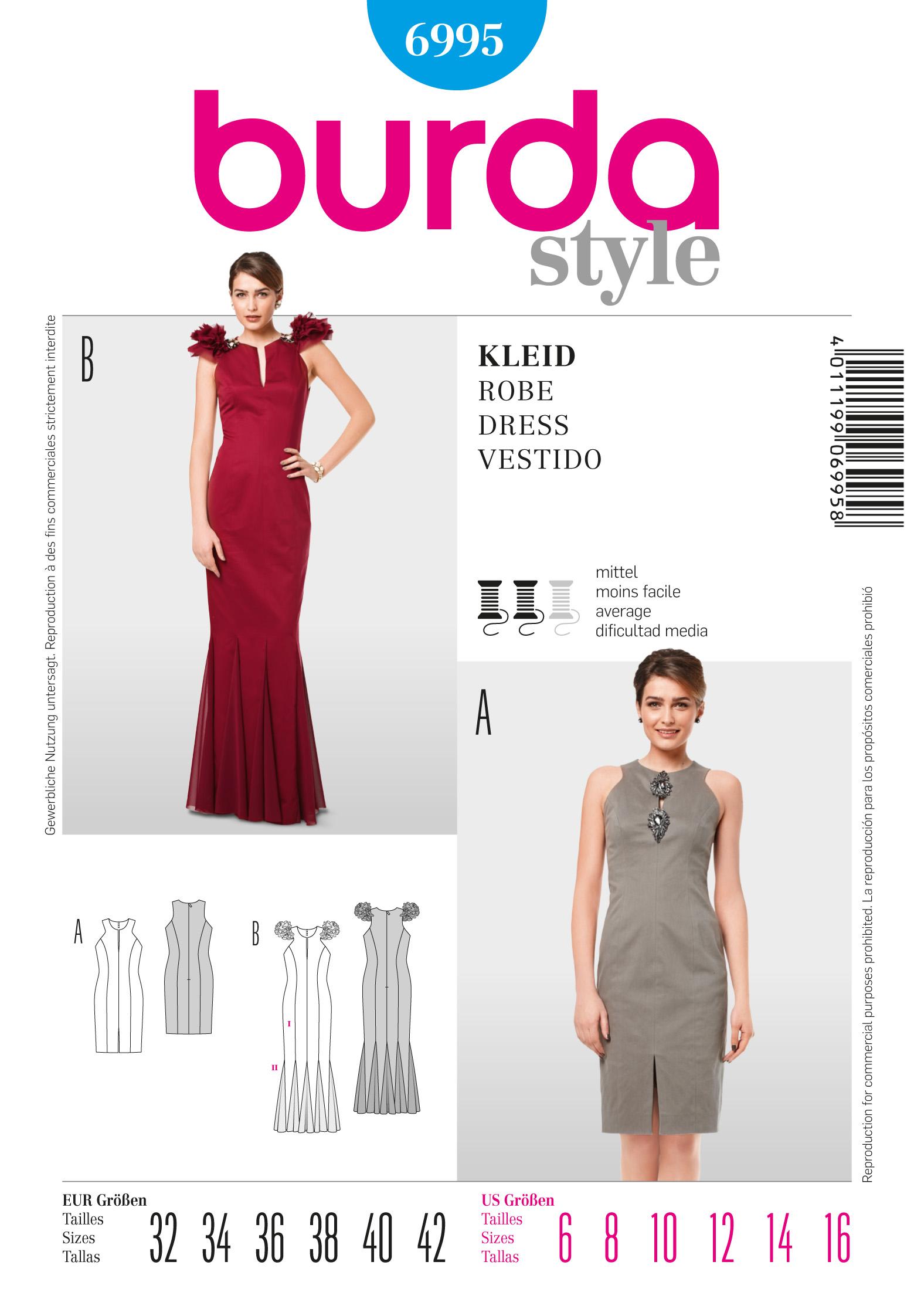 Burda Evening Dress 6995
