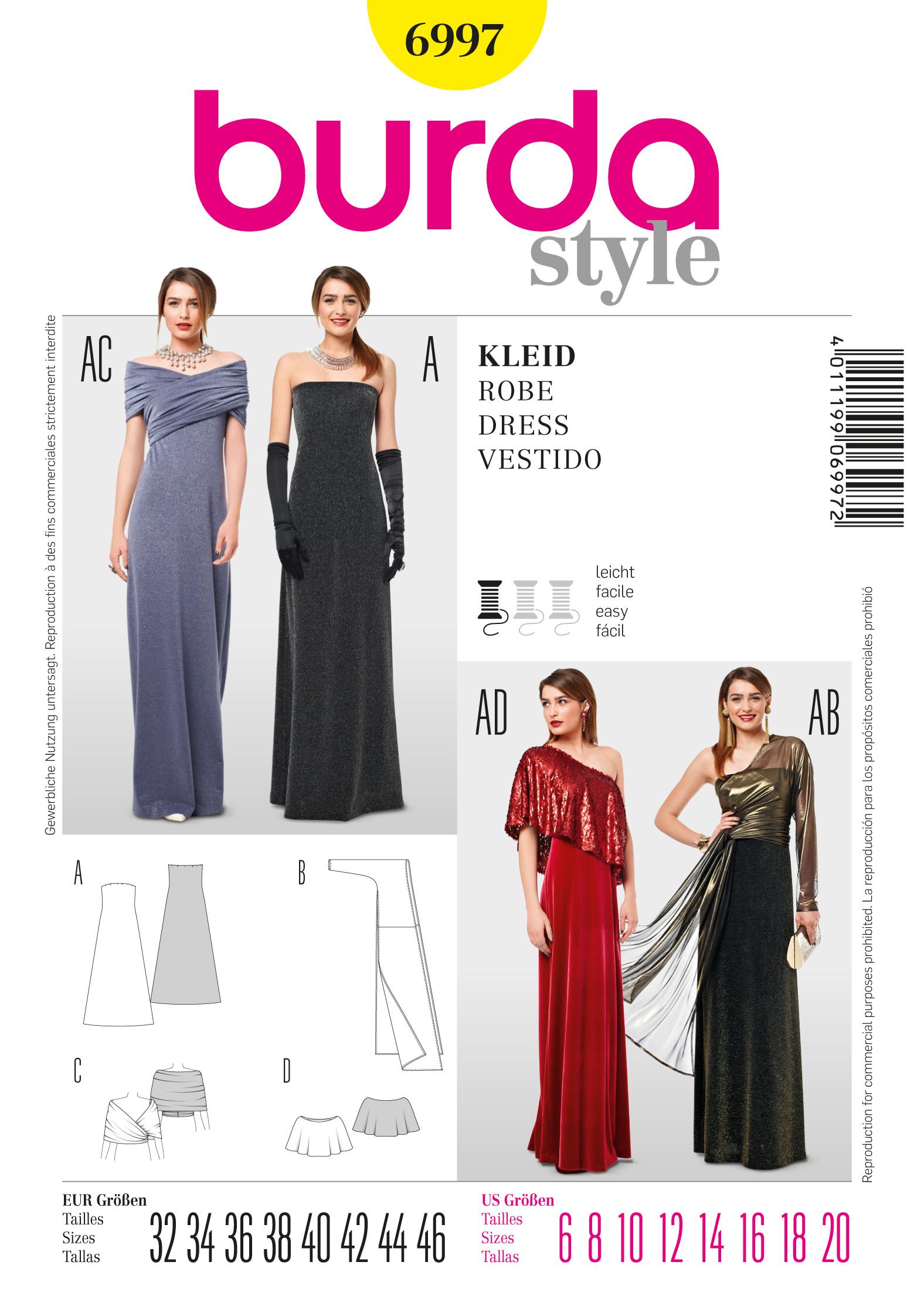 Burda Long Jersey Dress  6997