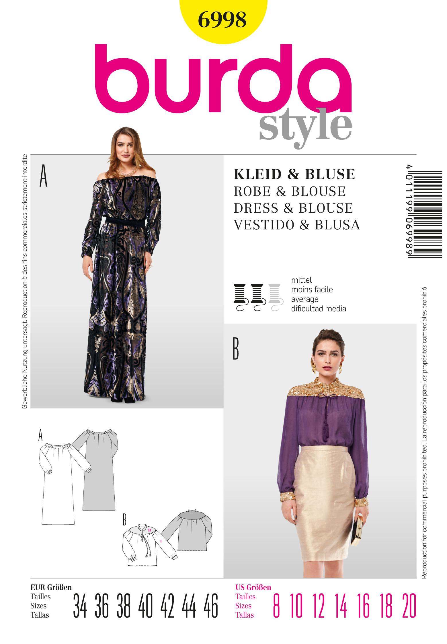 Burda Long Evening Dress 6998