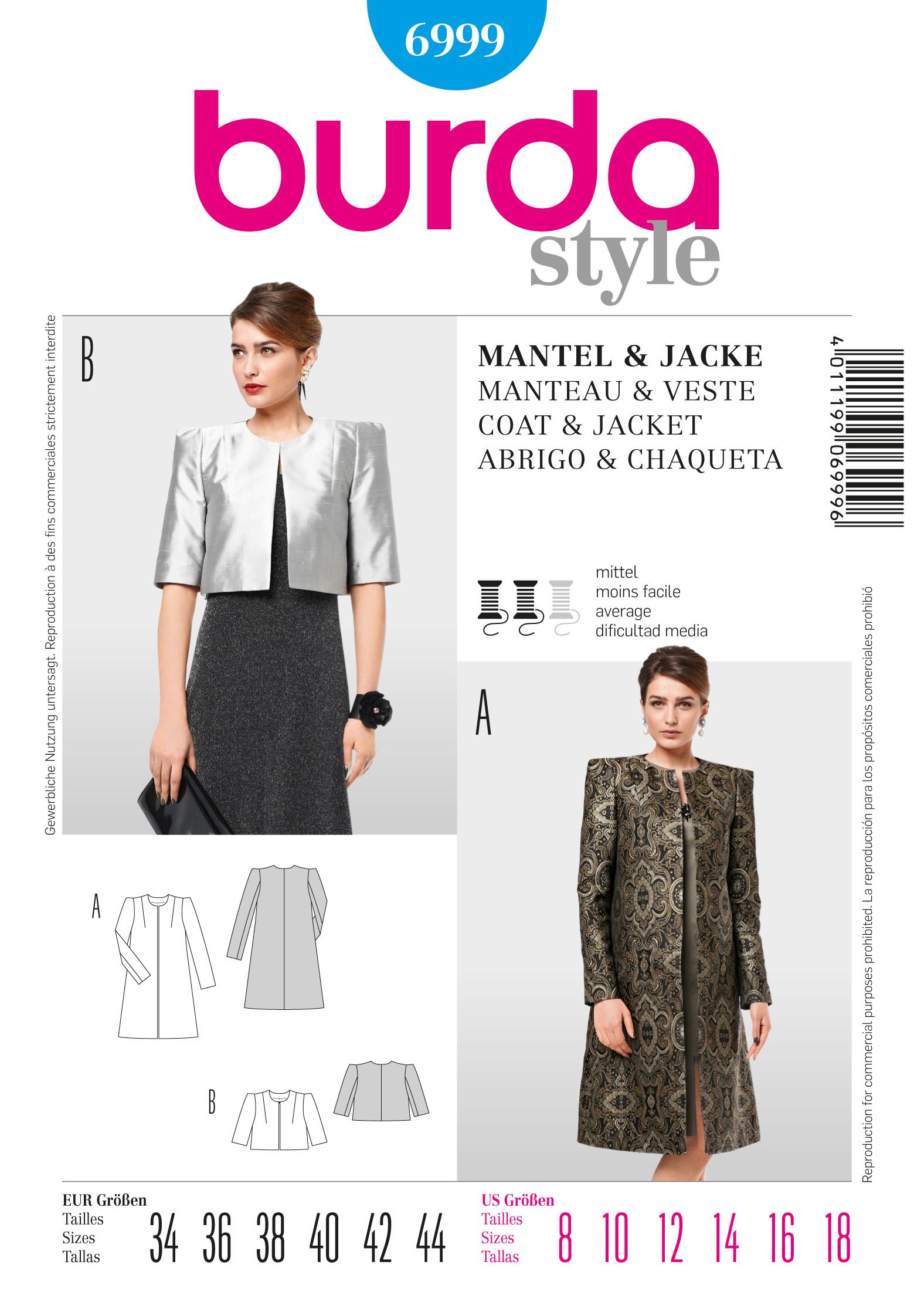 Burda Coat / Jacket  6999
