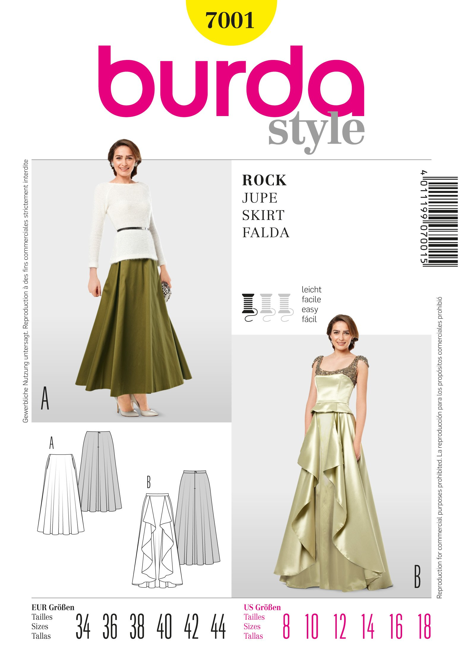 Burda Evening Skirt  7001