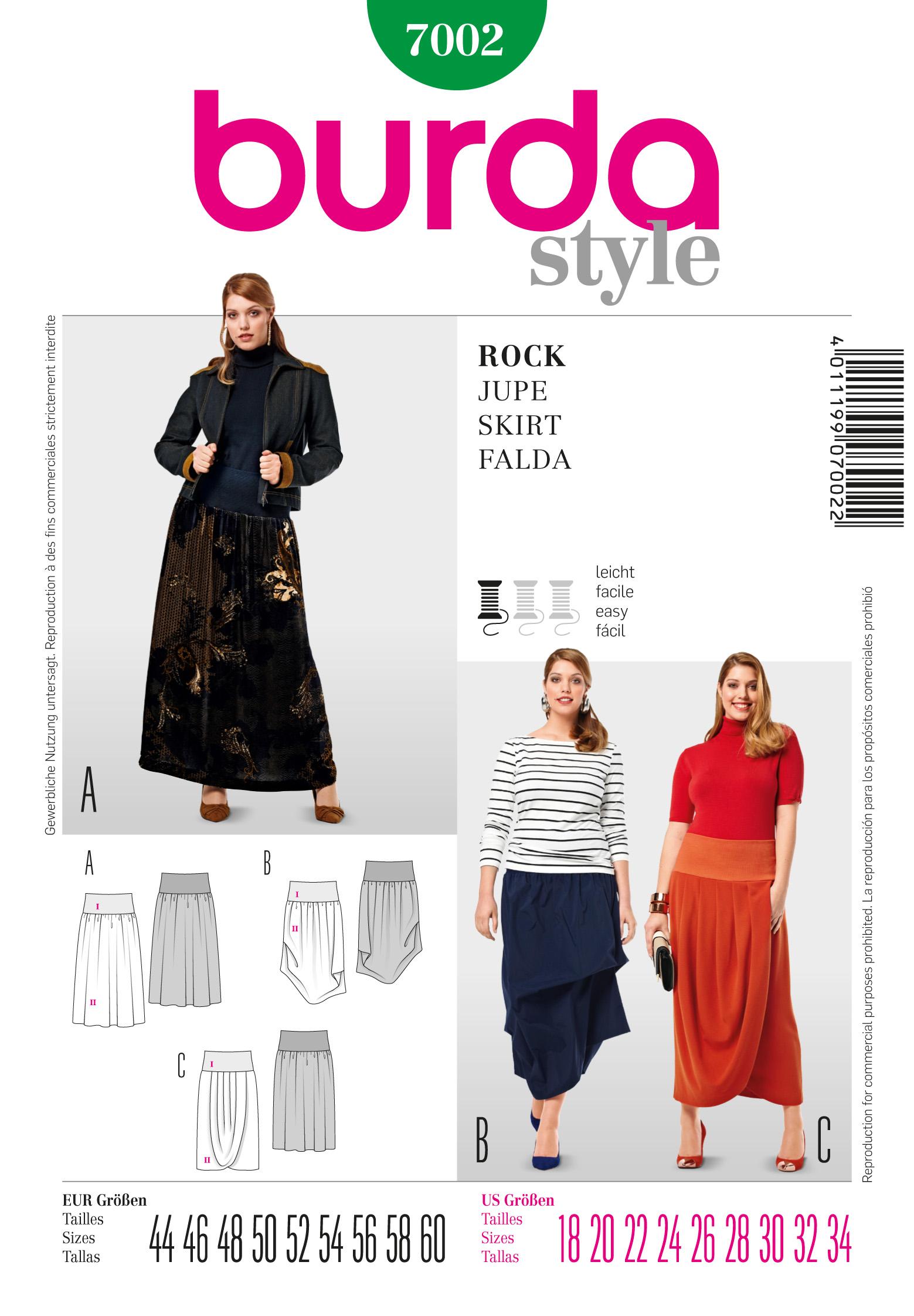Burda Skirt 7002