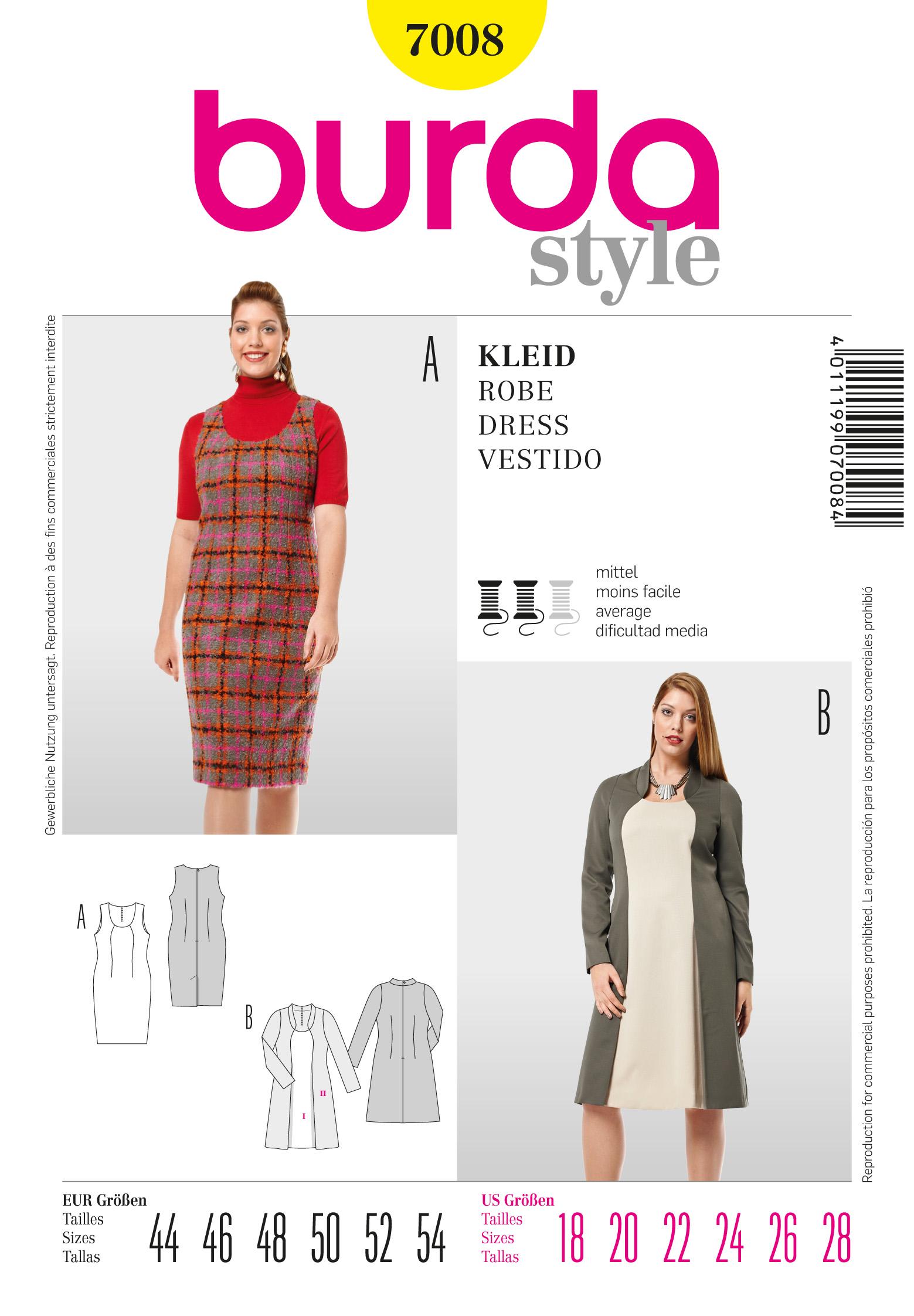 Burda Sheath Dress 7008
