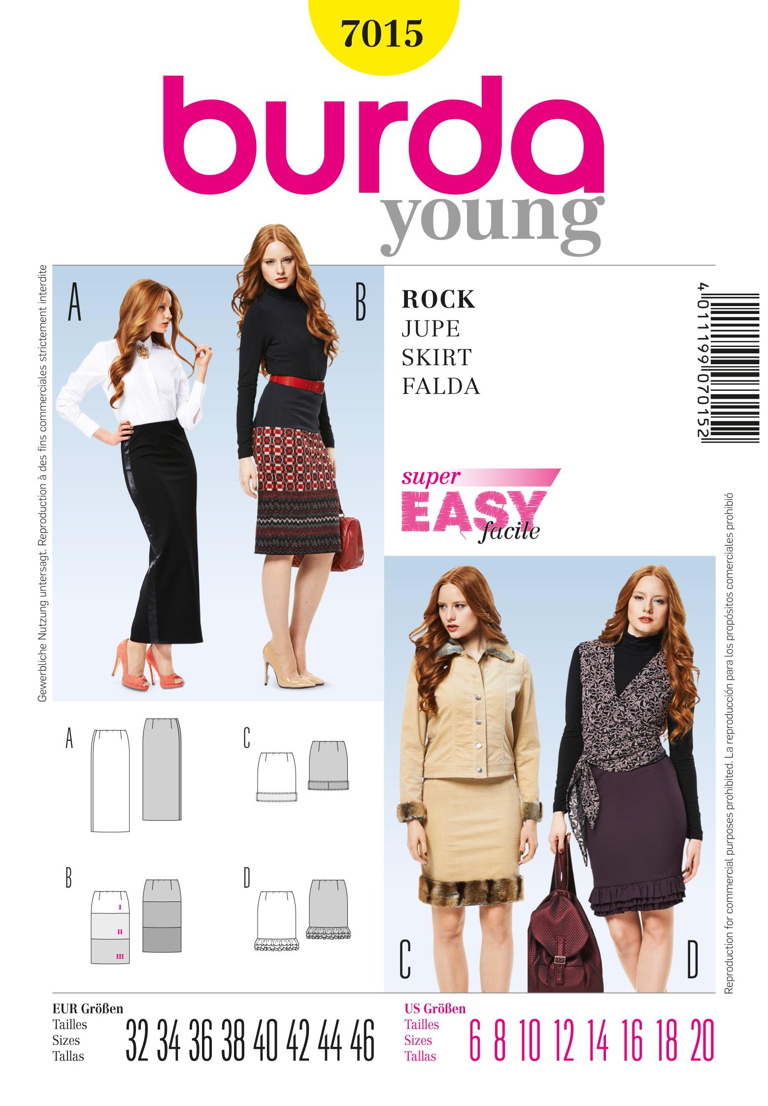 Burda Skirt 7015