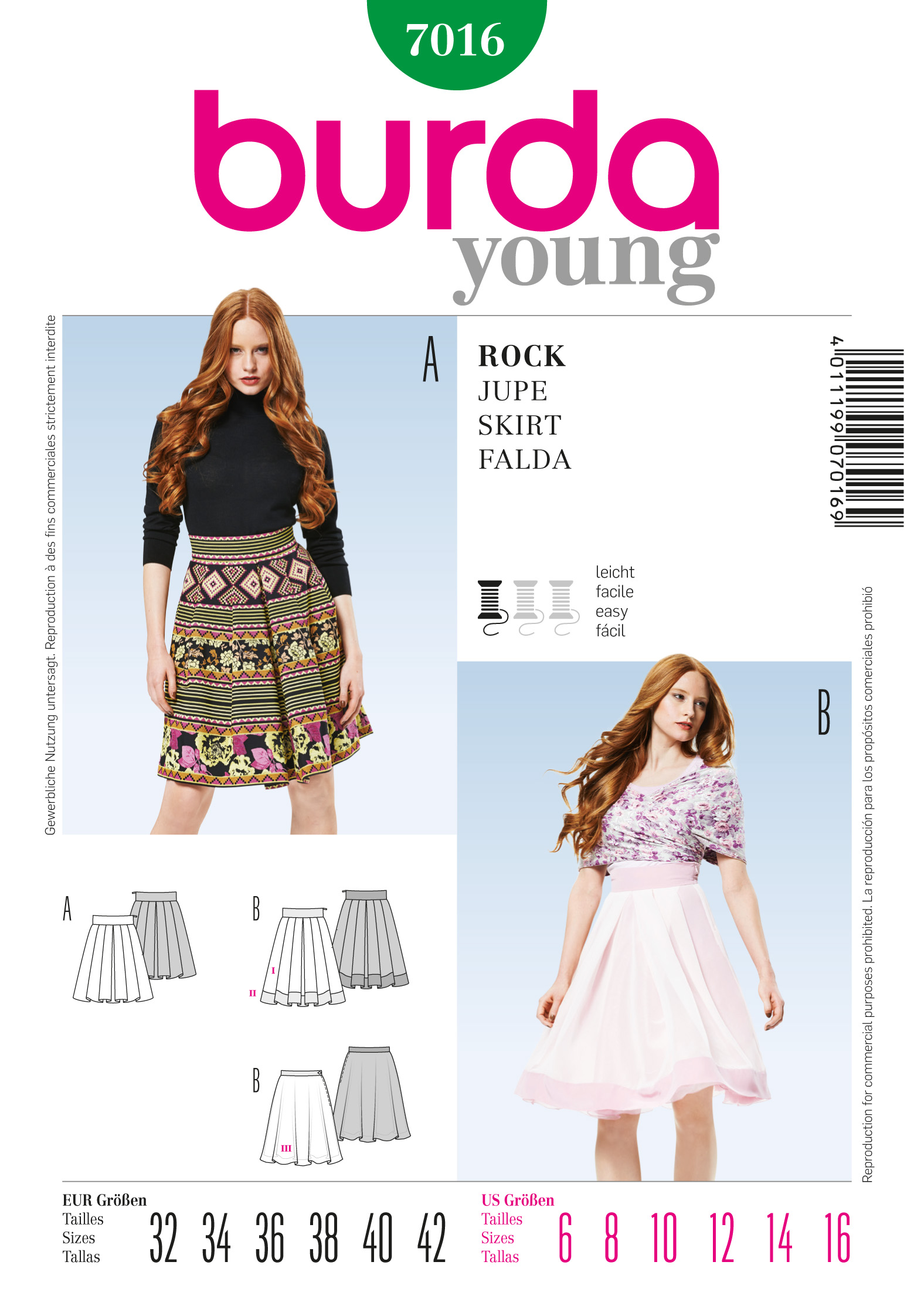 Burda Skirt 7016