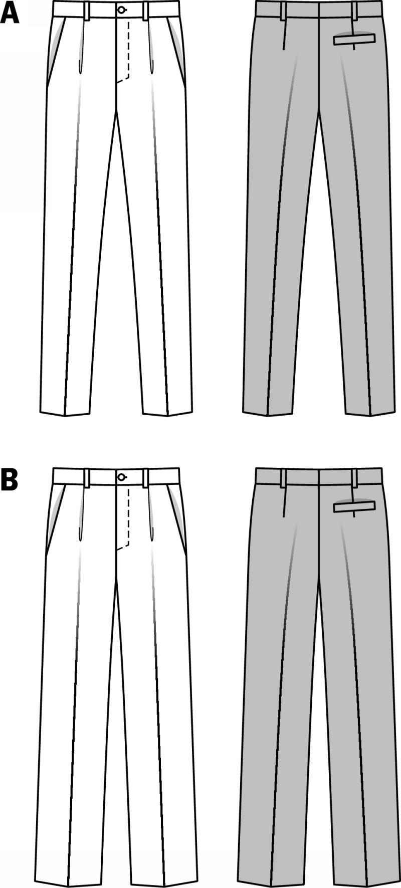 Burda 7022 Men S Pants Sewing Pattern