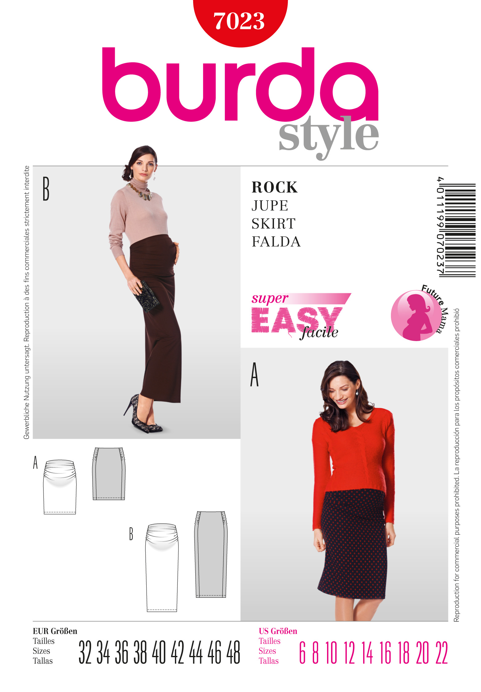 Burda Maternity Skirt  7023