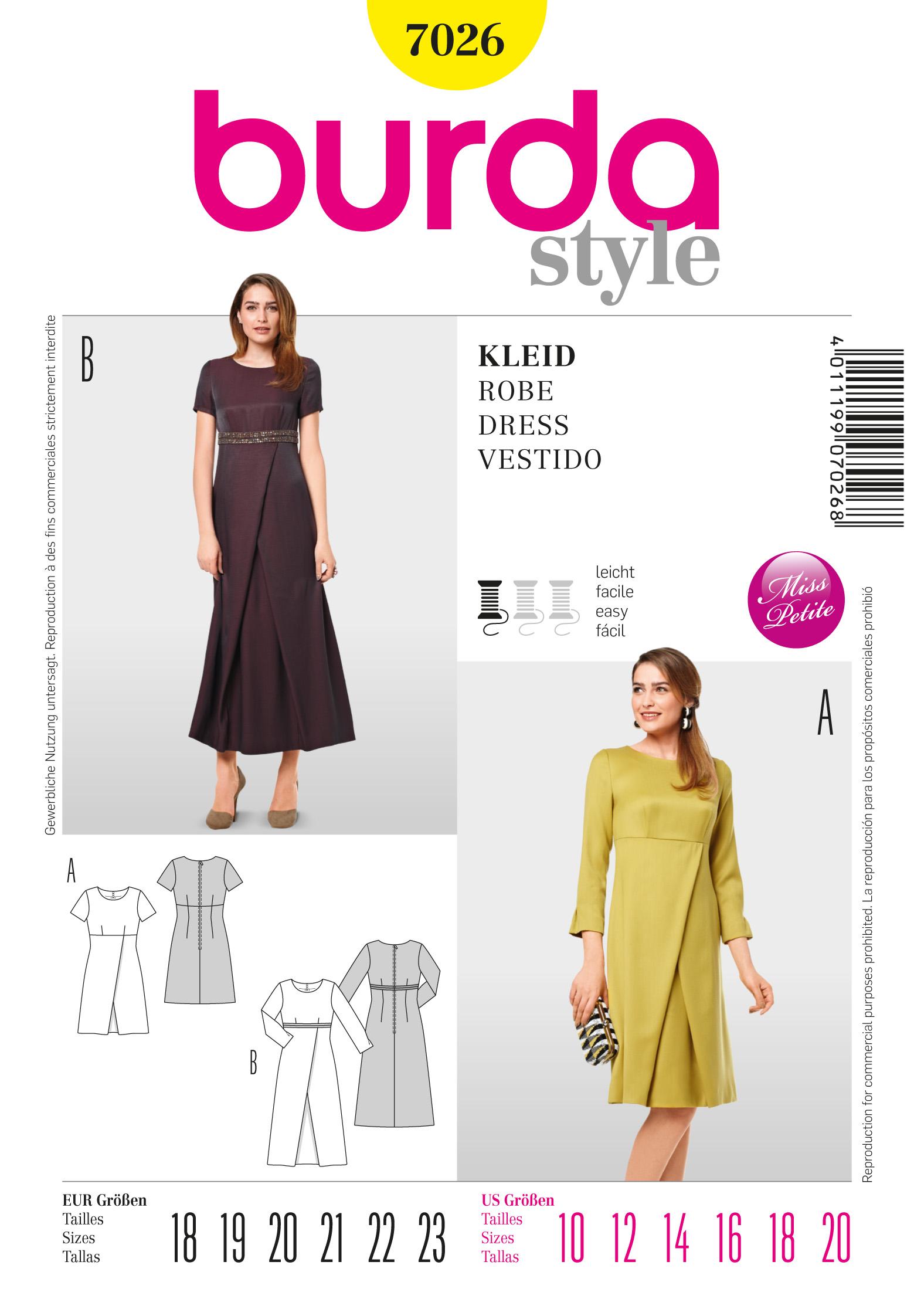 Burda Dress  7026