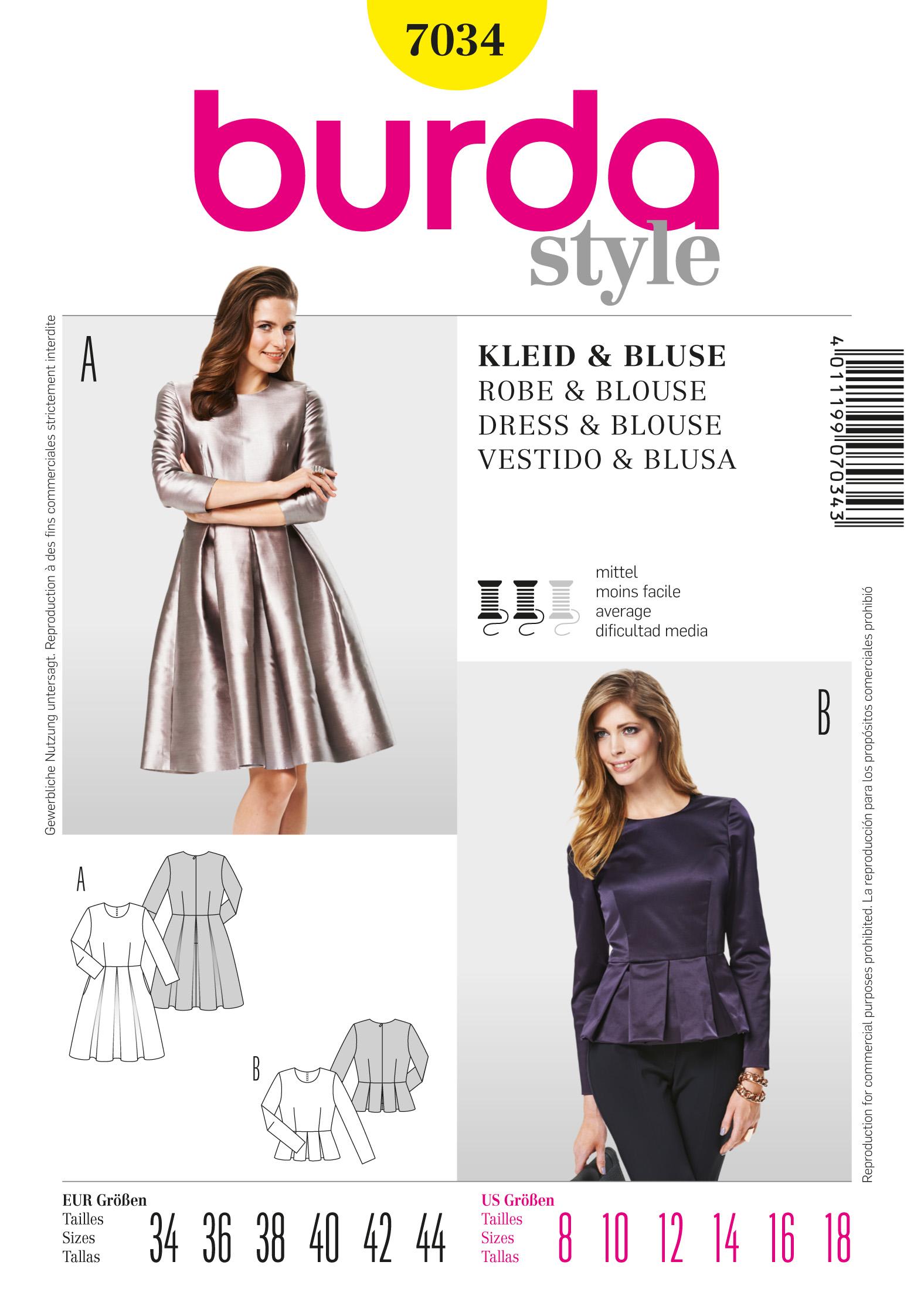 Burda Dress  7034