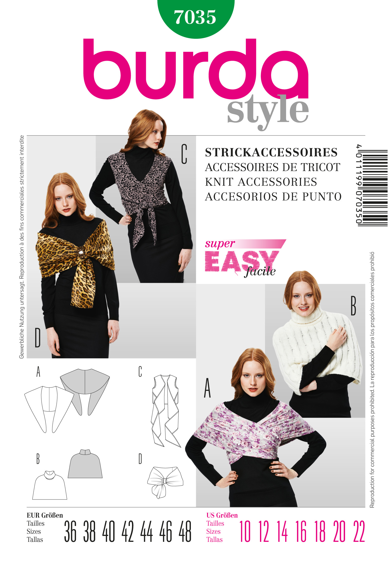 Burda Knit Accessories  7035