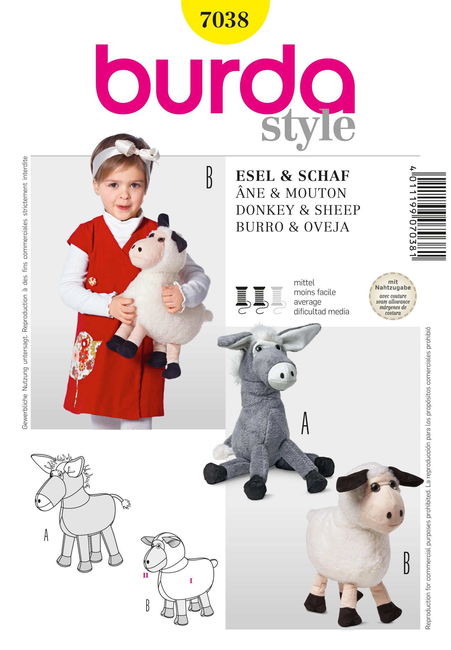 Burda Cuddly Toy  7038