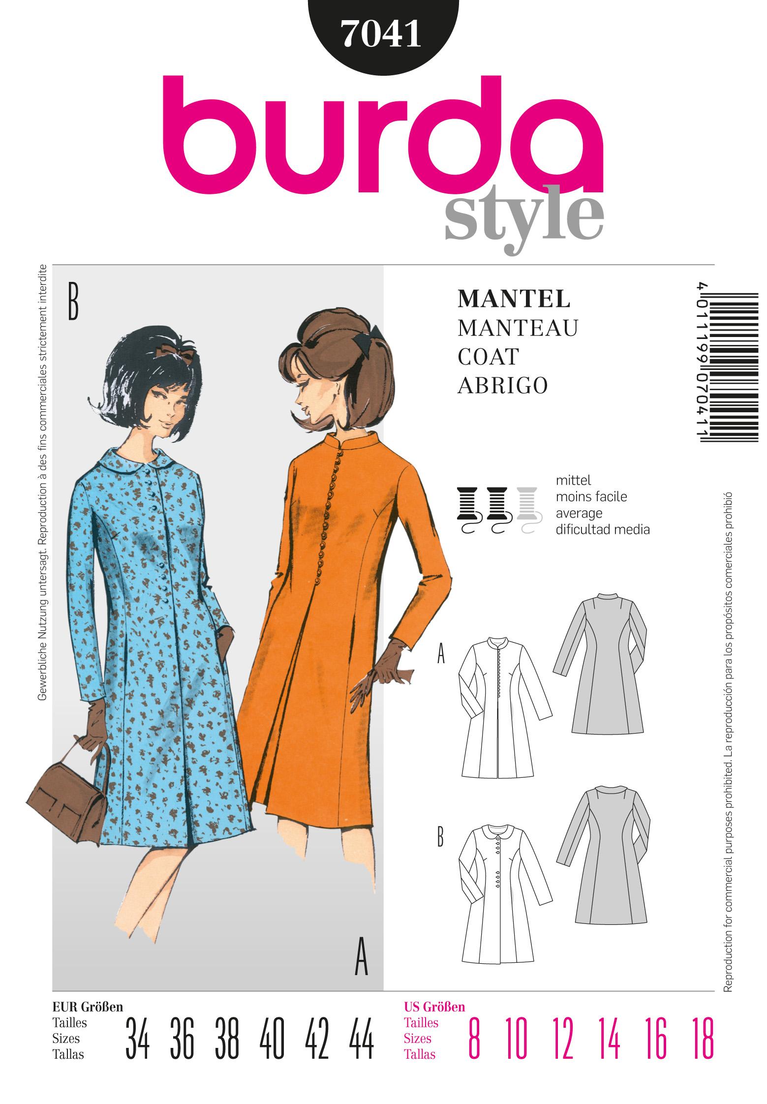Burda Vintage Coat 7041