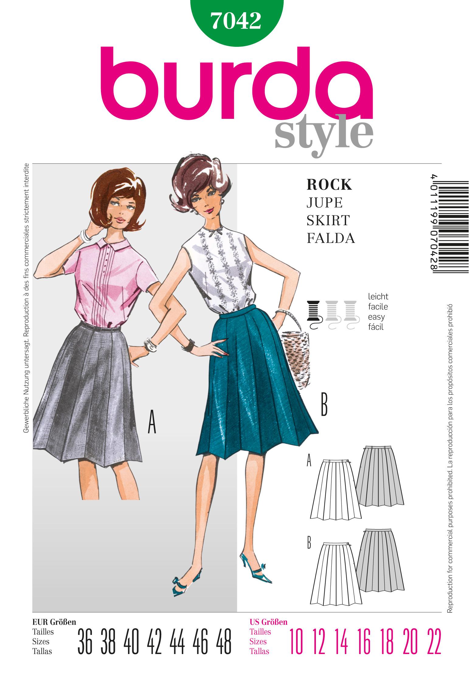 Burda Vintage Skirt 7042