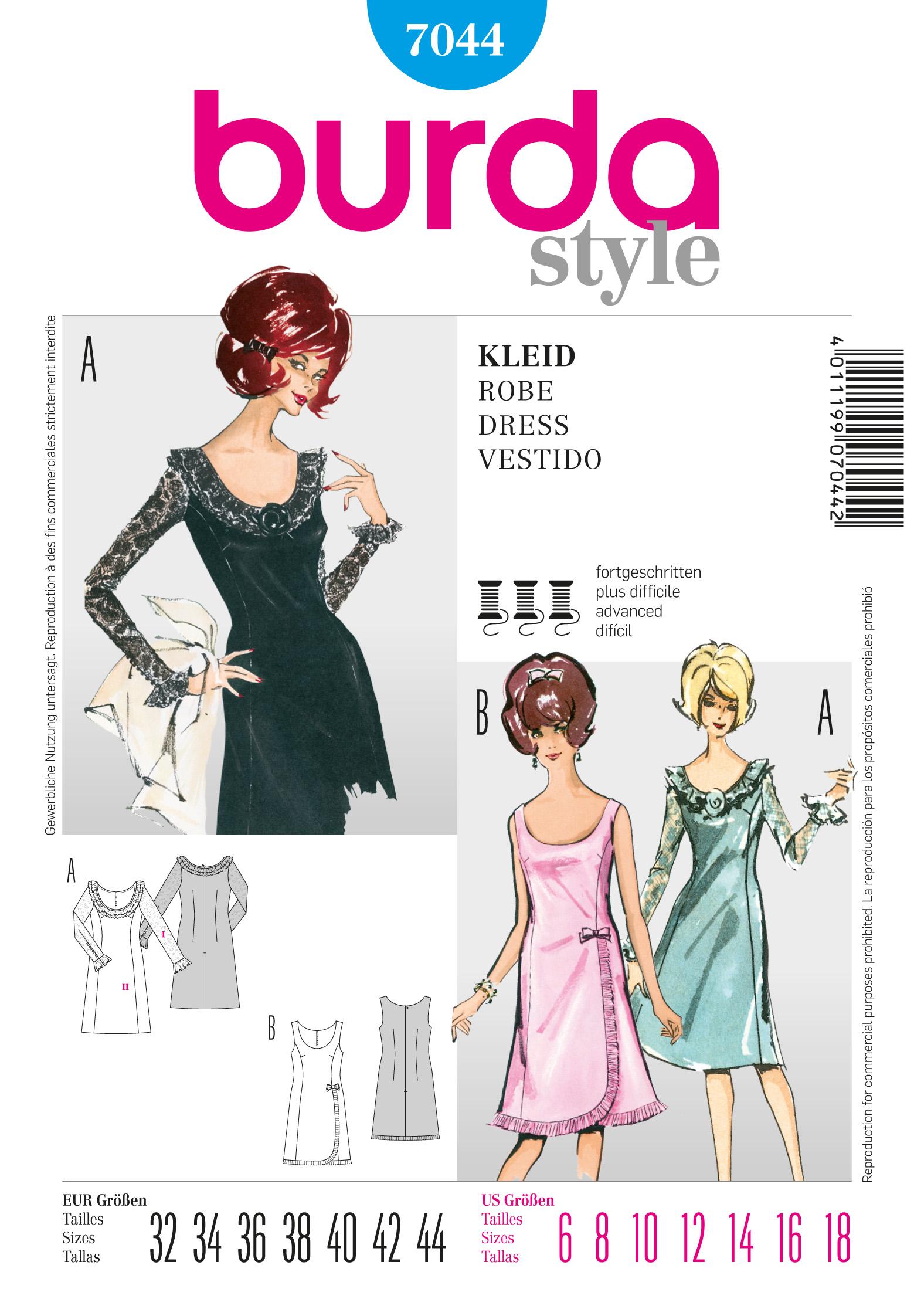 Burda Vintage Dress 7044