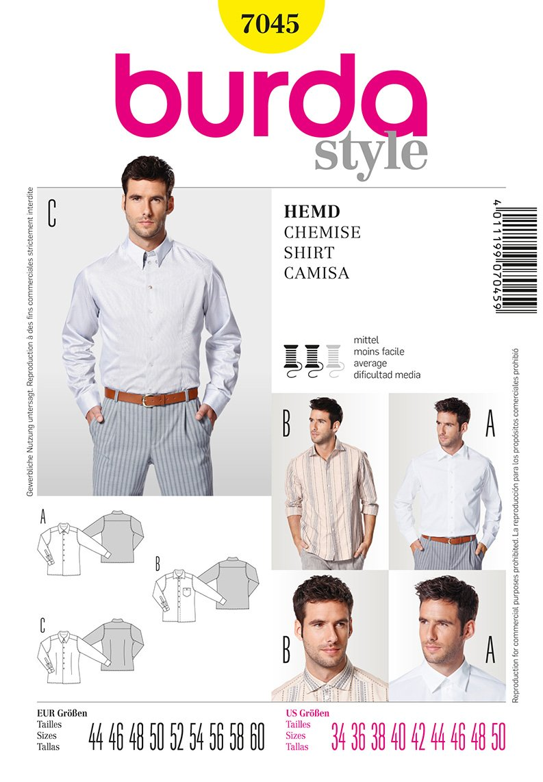 Burda Men's Shirts 7045