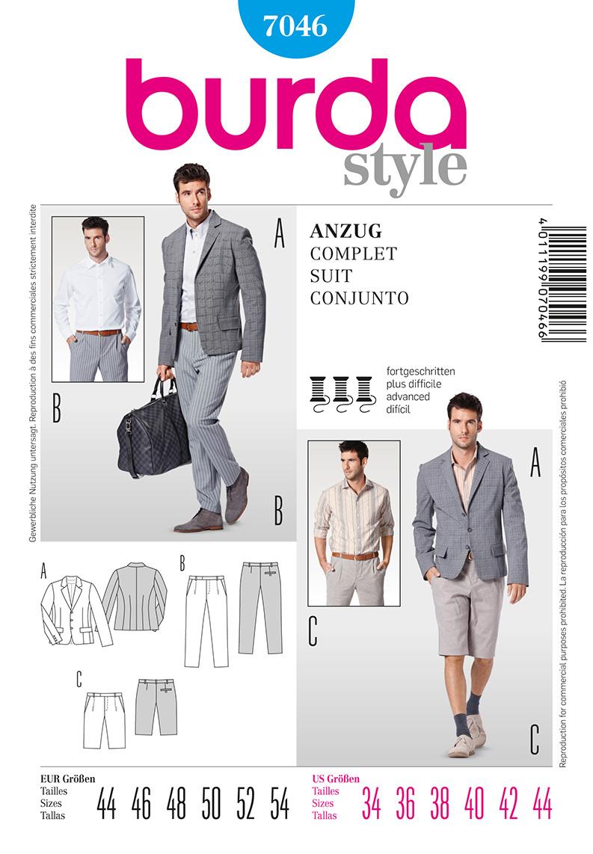 Burda Men's Suit 7046
