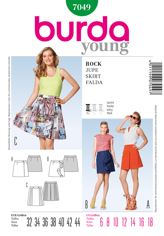 Burda Misses Skirt 7049