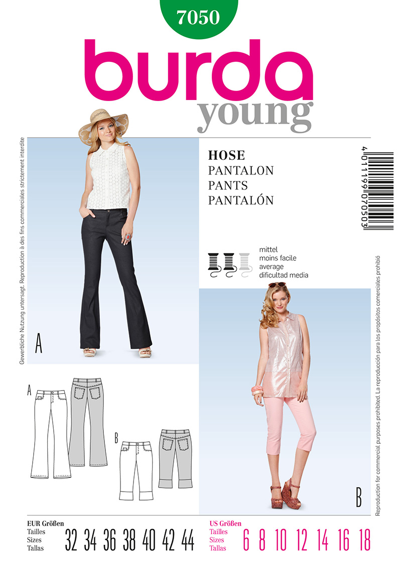 Burda Misses Pants 7050