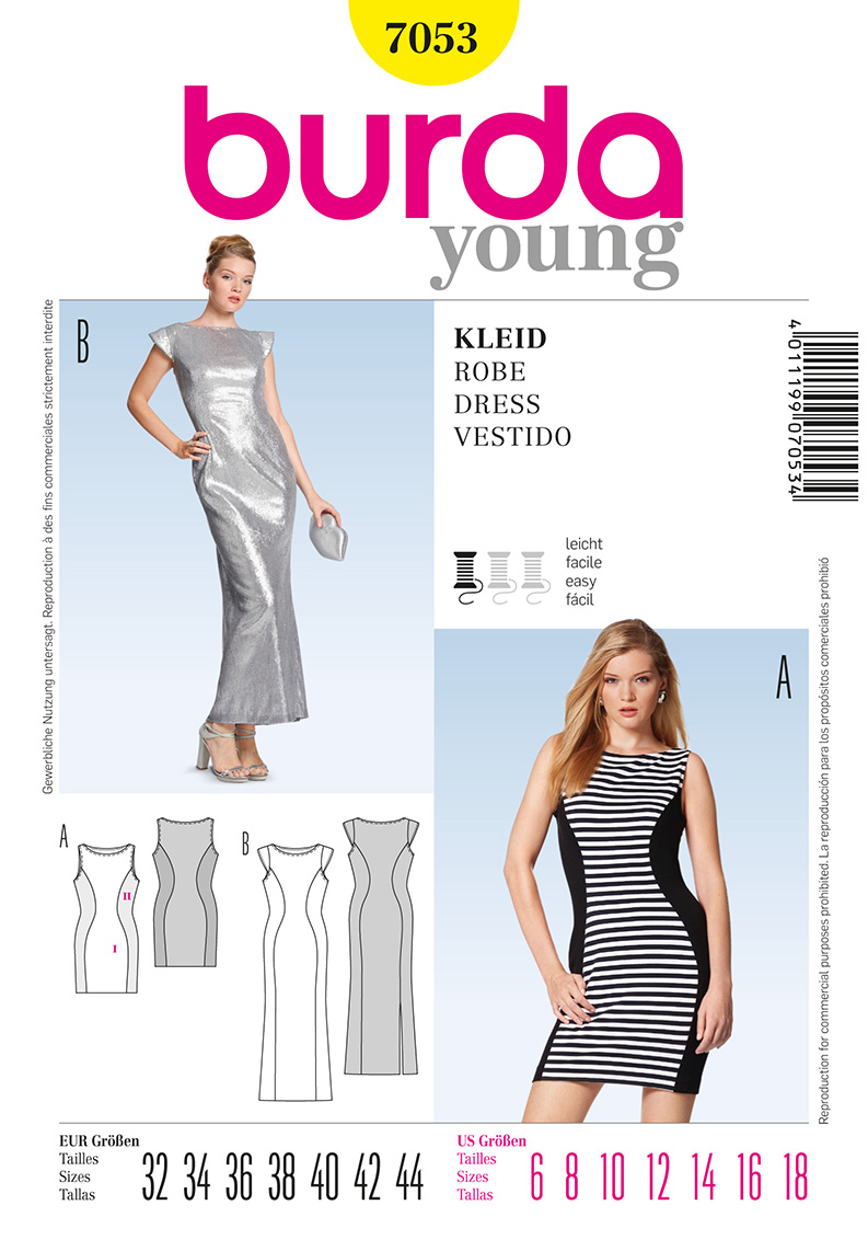 Burda Misses Dress 7053