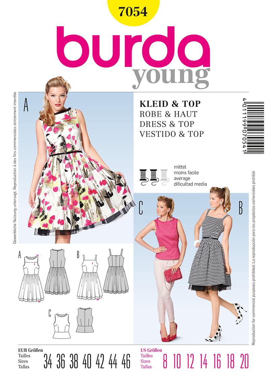 Burda Misses Dress and Top 7054