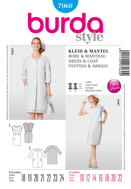 Burda Misses Dress and Coat 7060