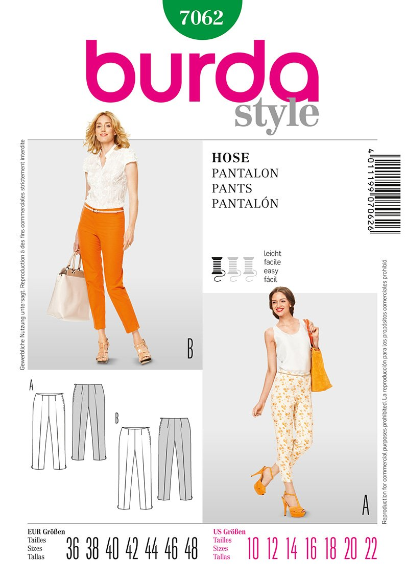 Burda Misses Pants 7062