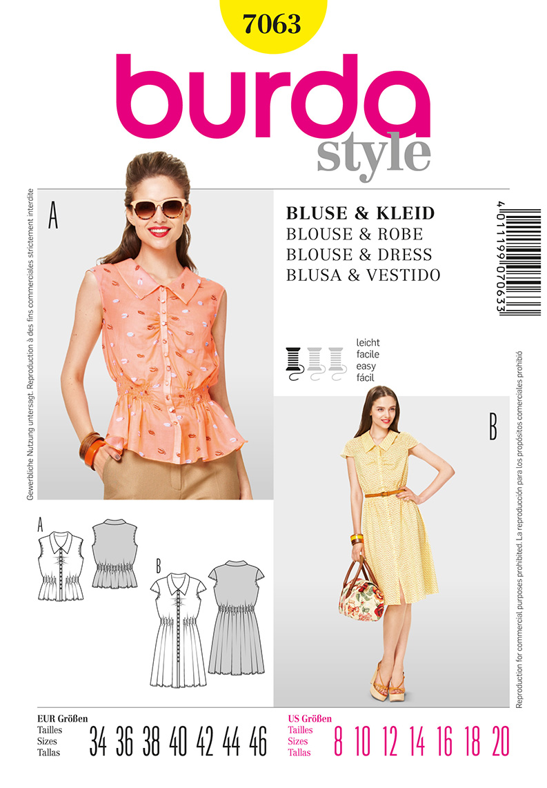 Burda Misses Dress and Blouse 7063