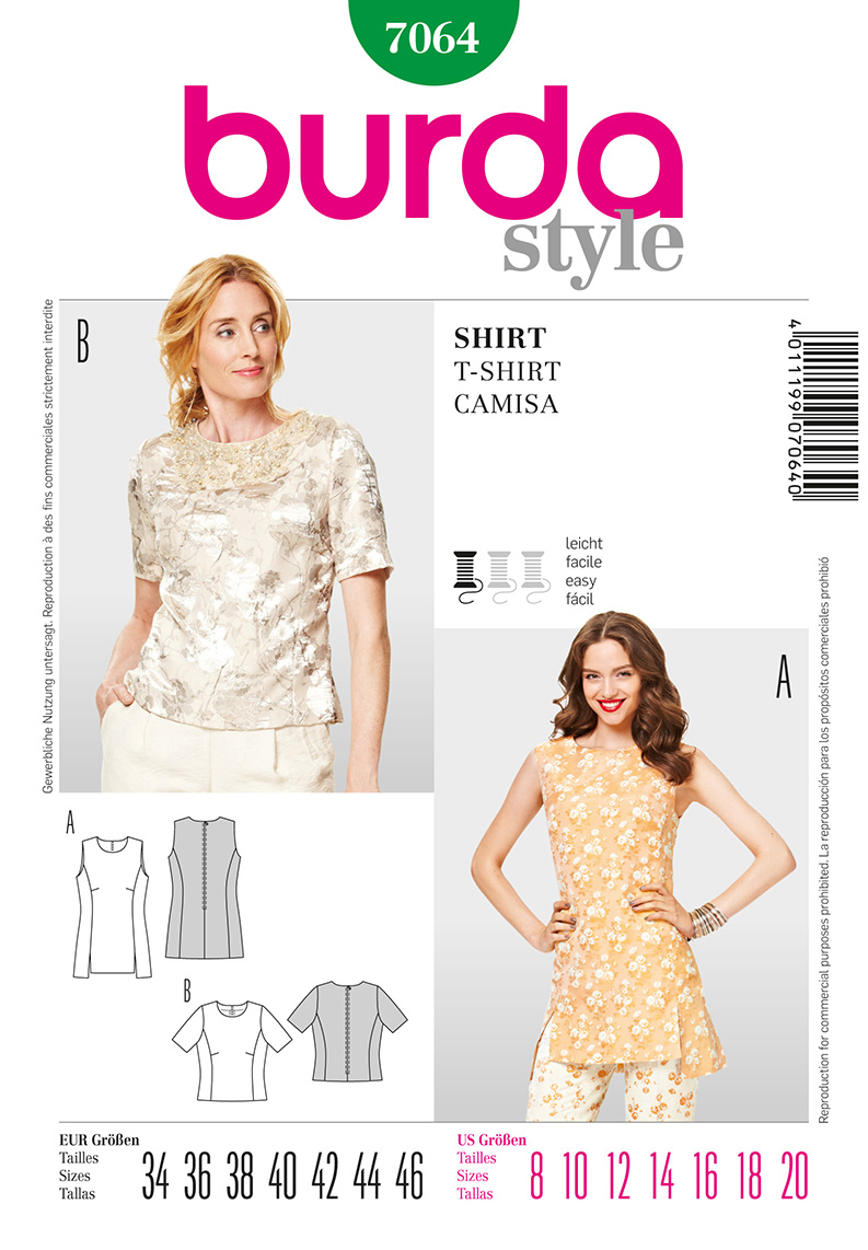 Burda Misses Tops 7064