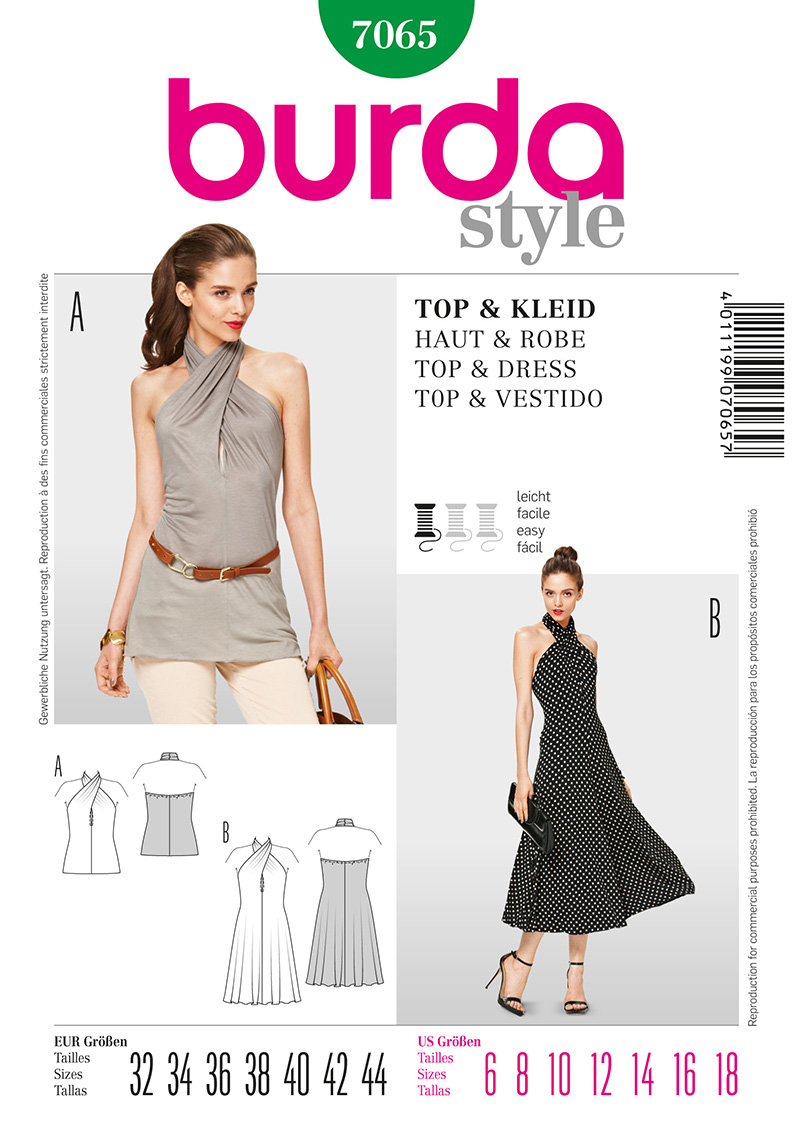 Burda Misses Top and Dress 7065
