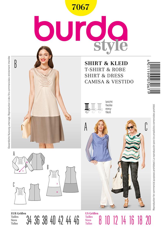 Burda Misses Top and Dress 7067