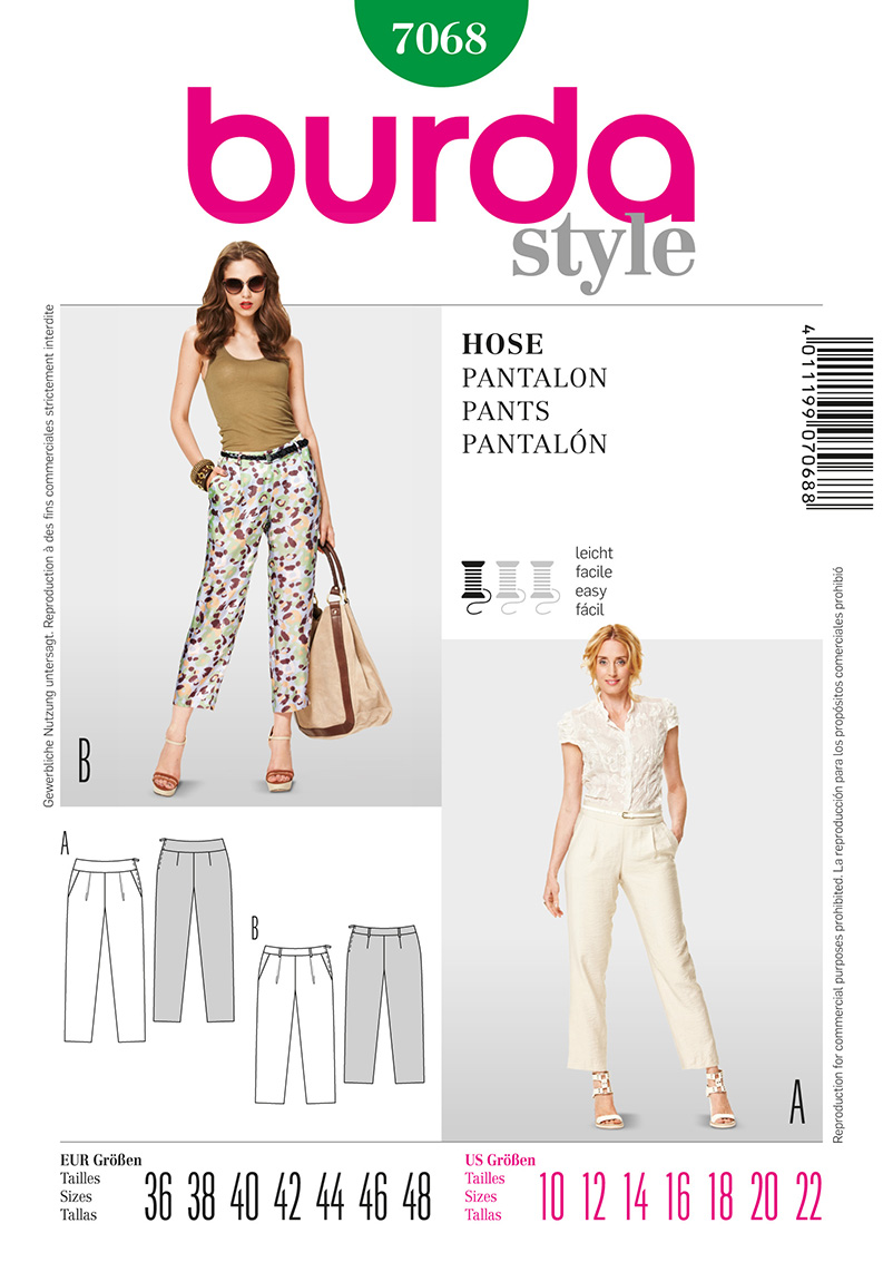 Burda Misses Pants 7068